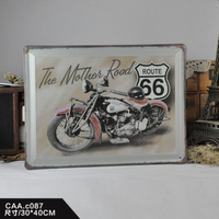 The Mothes Raod Large Vintage Metal Painting Poster Wall Sticker Tin Sign Retro Iron Art Bar Cafe Wall Decoration 30X40 CM