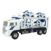 Newest Police Cars Model 1 Truck Hauler 4 Small Cars High Quality Kids Children Toys Holday