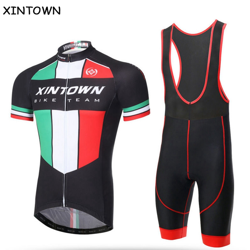 XINTOWN Cycling Jersey Mtb Bicycle Clothing Bike Wear Short Sleeve Jersey (bib)Shorts Kit Clothes Maillot Roupa Ropa De Ciclismo  цена