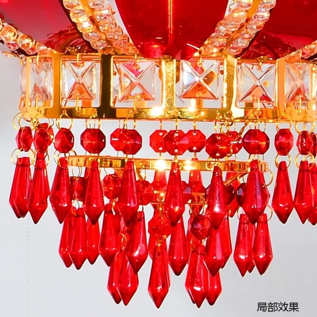 30pcs Lot Red Chandelier Glass Crystals Lamp Prisms Parts Icicle Hanging Pendants 38mm 1 49