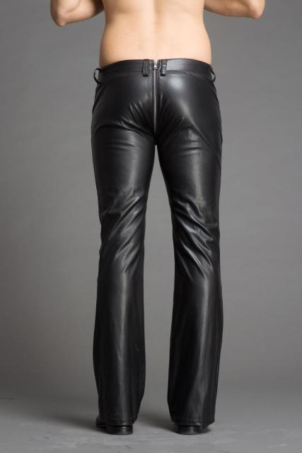 2018 Men's stylish flared leather pants.     29-36!! 2