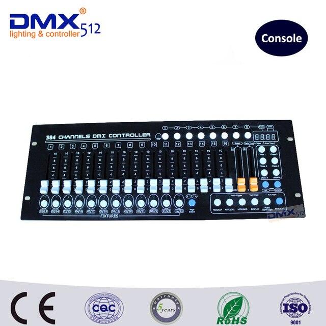 Dhl бесплатная доставка 384CH освещение сцены DJ освещения DMX консоли сценического освещения контроллер консоли