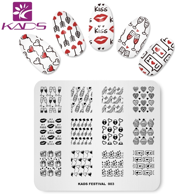 KADS Festival 003 Valentine\u0027s nail art stamp stamping nail stamp - stamp template