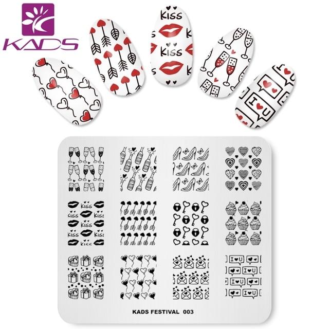 KADS Festival 003 Valentine\u0027s nail art stamp stamping nail stamp - stamp template