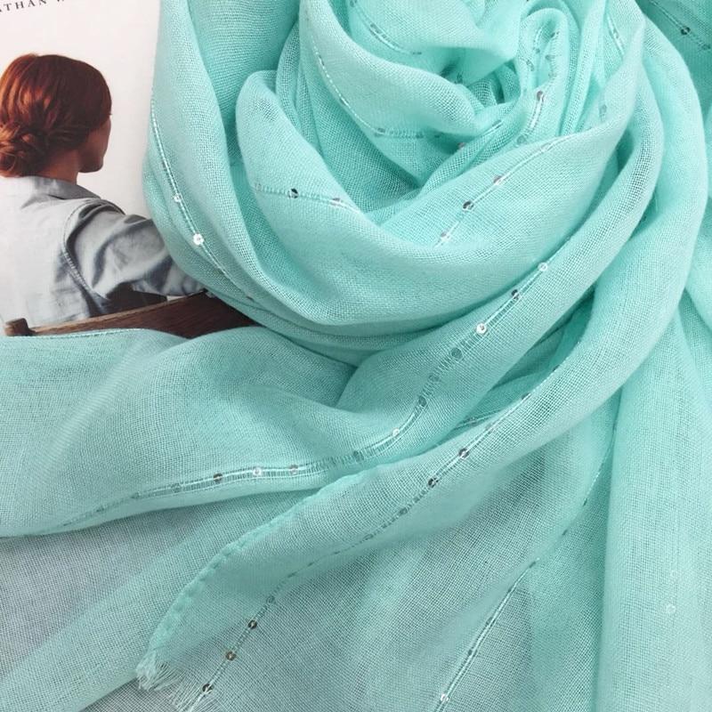 Fashion plain solid glitter sparkling sequin women scarf scarves shimmer hijab shawls muslim head scarf wraps
