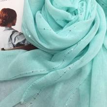 Moda pianura solido scintillio di paillettes scintillanti delle donne sciarpa/sciarpe shimmer scialli hijab musulmano sciarpa testa avvolge 10 pz/lotto caldo vendita