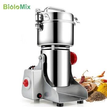 BioloMix - Moulin à grain capacité 700g pour graines de café, céréales, etc.