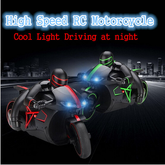 2016 New RC motorcycle 4CH 2.4G high speed drift stunt Remote control children's toy with rubber wearproof tyre and Led light hot sell a6 4d gravity induction rc remote control motorcycle electronic toy cars rechargeable drift dumpers promotional gifts
