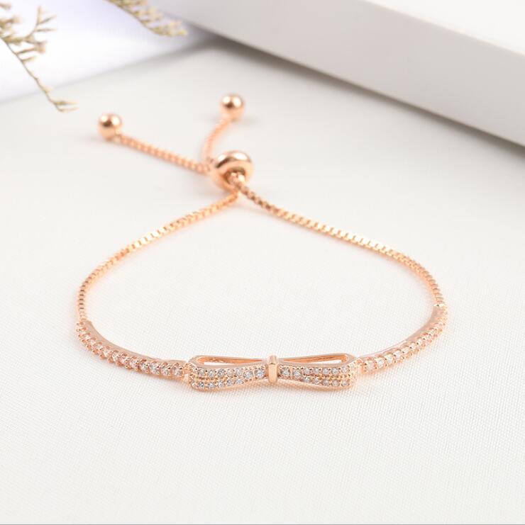 HTB1BQLCbfBj uVjSZFpq6A0SXXau Ruifan Fashion Box Chain Bowknot 100% 925 Sterling Silver Bracelet Ladies Cubic Zircon Bracelets Female Women's Jewelry YBR057