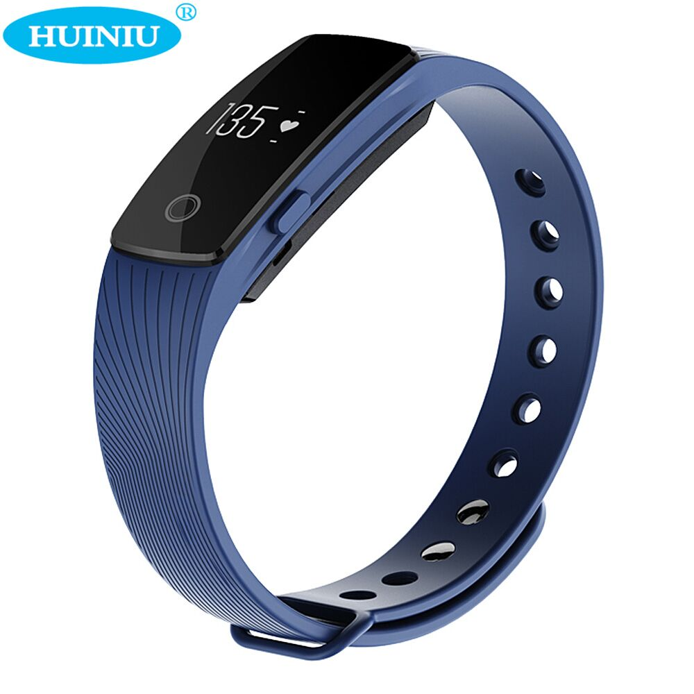 HUINIU Smart Bracelet Band Wearable Devices Heart Rate Monitor Wristband Pedometer Sleep Fitness Tracker For Android