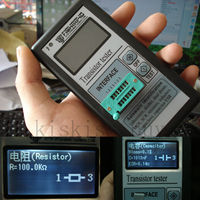 Portable Mega328 12864 LCD Graphics Display ESR Meter Transistor Tester Capacitance Inductance Diode Triode MOS NPN