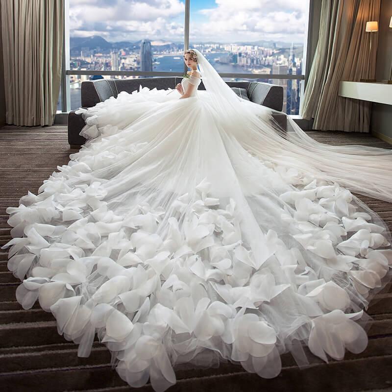 Королевский Поезд Прополка платье без бретелек Невеста платье для свадьбы спинки на шнуровке новые Дизайн 2018