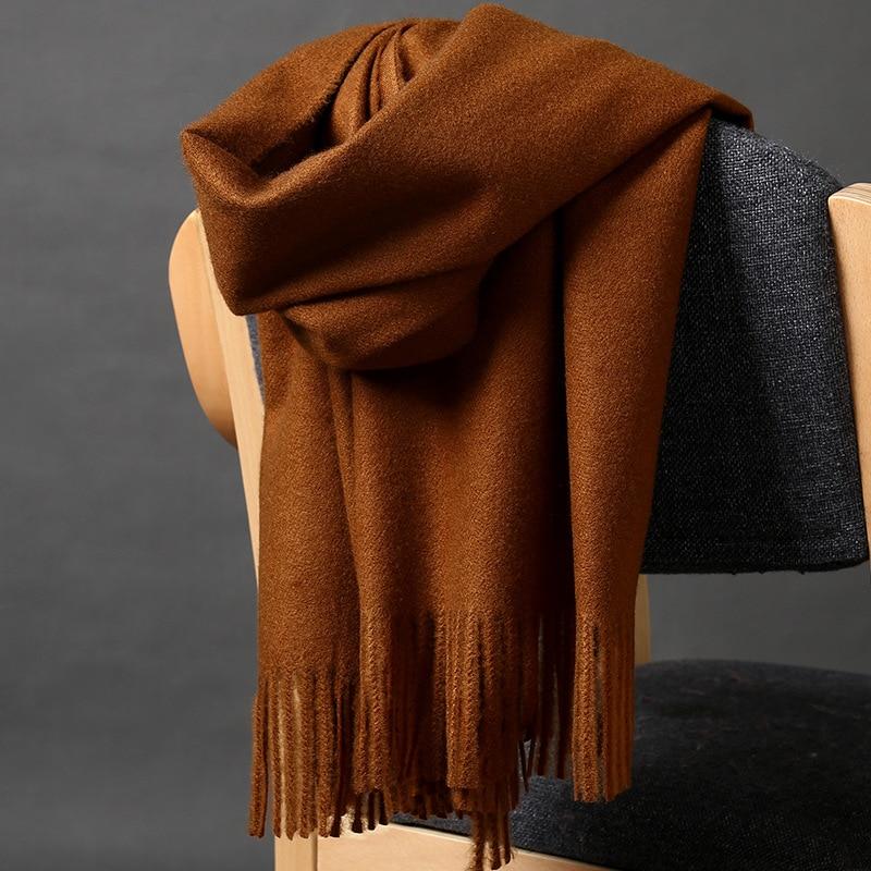 2019 nouveau unisexe automne hiver marque de luxe écharpes dans les châles des femmes enveloppes dames chaud Pashmina solide longue écharpe en cachemire