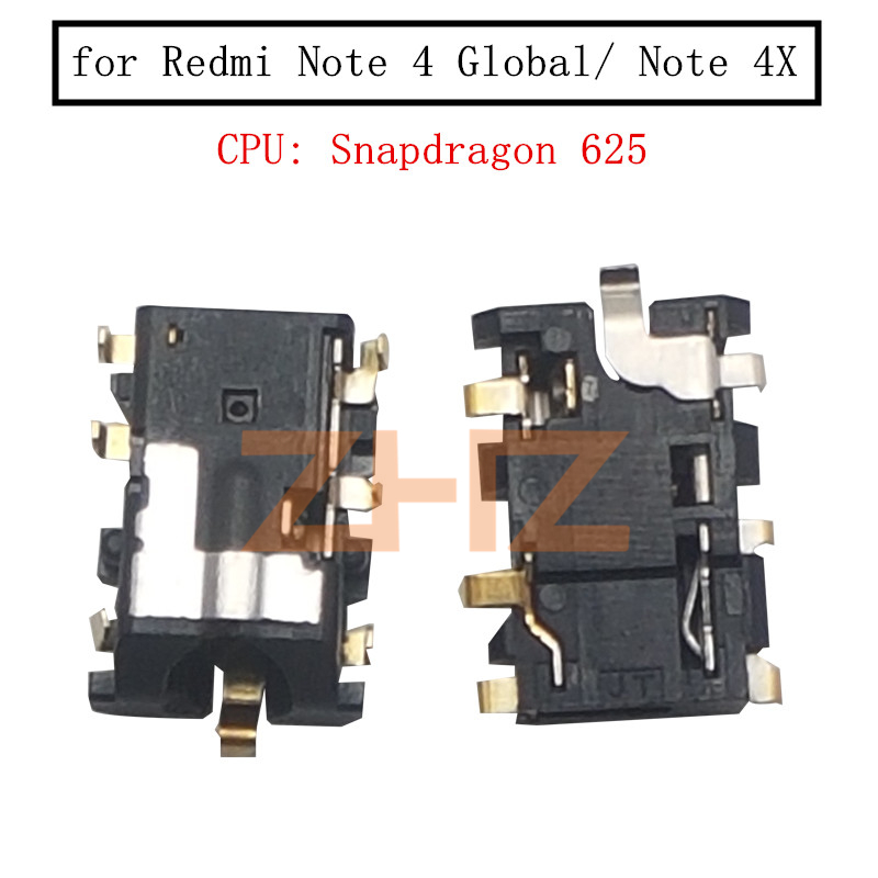 For Xiaomi Redmi Note 4 Global/ Note 4X Snapdragon625 Headphone Jack Model Earpiece Audio Earphone Jack Replacement Repair Parts