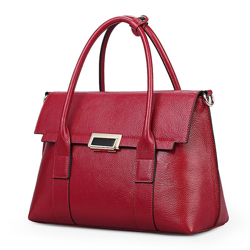 ФОТО Women Fashion Leather Handbags Red Single Shoulder Bags Famous Luxury Brand Style
