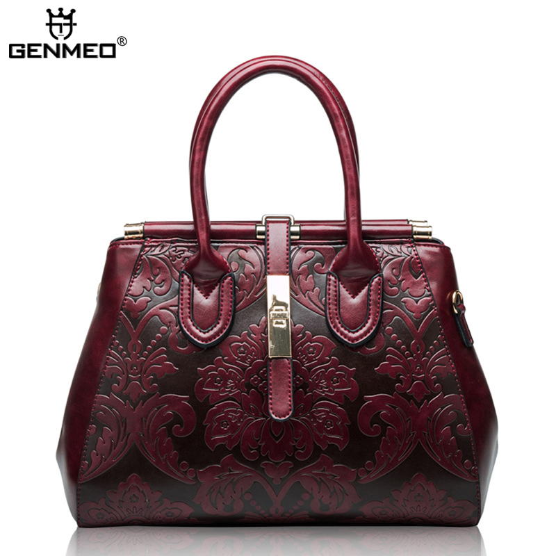 New Arrival Famous Brand Design Fashion Women 39 s Handbags 2019 Women Genuine Leather Vintage Bags Ladies Handbag Bolsa Feminina in Top Handle Bags from Luggage amp Bags