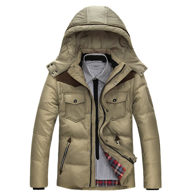 Jaqueta dos homens Cores Sólidas Outono Homens Jaqueta de Inverno Para Baixo Com Capuz de Algodão Grosso Roupas Casuais Masculinos Zipper Coats E68