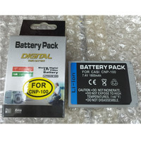 CNP 100 NP 100 Lithium Batteries Pack CNP100 Digital Camera Battery For Casio EXILIM Pro EX