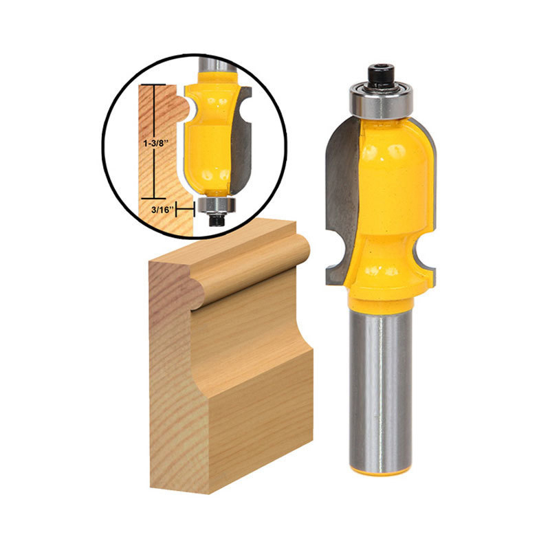5PCS SET DIY Bookshelf Molding Edge Banding Woodworking Tools Router Bit Table Edge Bit CNC Door Knife Wood Processing in Milling Cutter from Tools