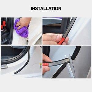 Image 2 - B בצורת דלת מכונית חותמות גומי חותמות קצה לקצץ עמיד למים וצליל הוכחה רצועות B סוג 5 M 8 M דלת חותמות רכב