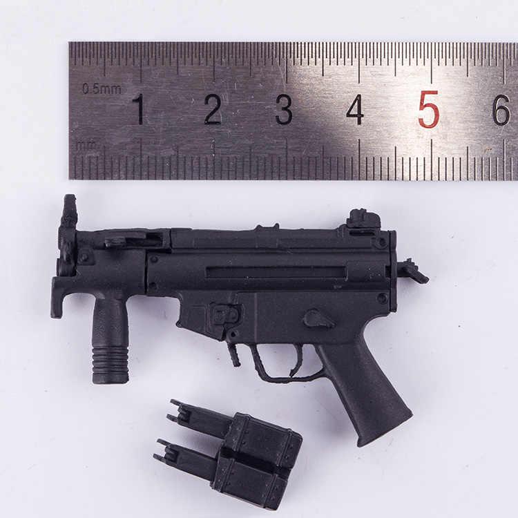 1/6 escala arma modelo acessórios moderno militar mp5 miniatura submetralhadora modelo para 12 soldier soldier soldado figura de ação