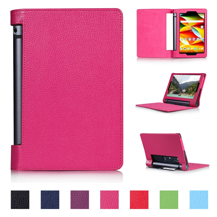 Flip Stand PU Leather Cover Case for Lenovo Yoga Tab 3 8.0 850F YT3-850M Tempered Glass For Yoga Tab 3 YT3-850F 850M 850L