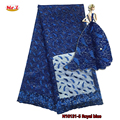 Mr.Z Royal Blue African Lace Fabric 2017 African French Lace High Quality Embroidery African Tulle Lace Fabric For Women Party