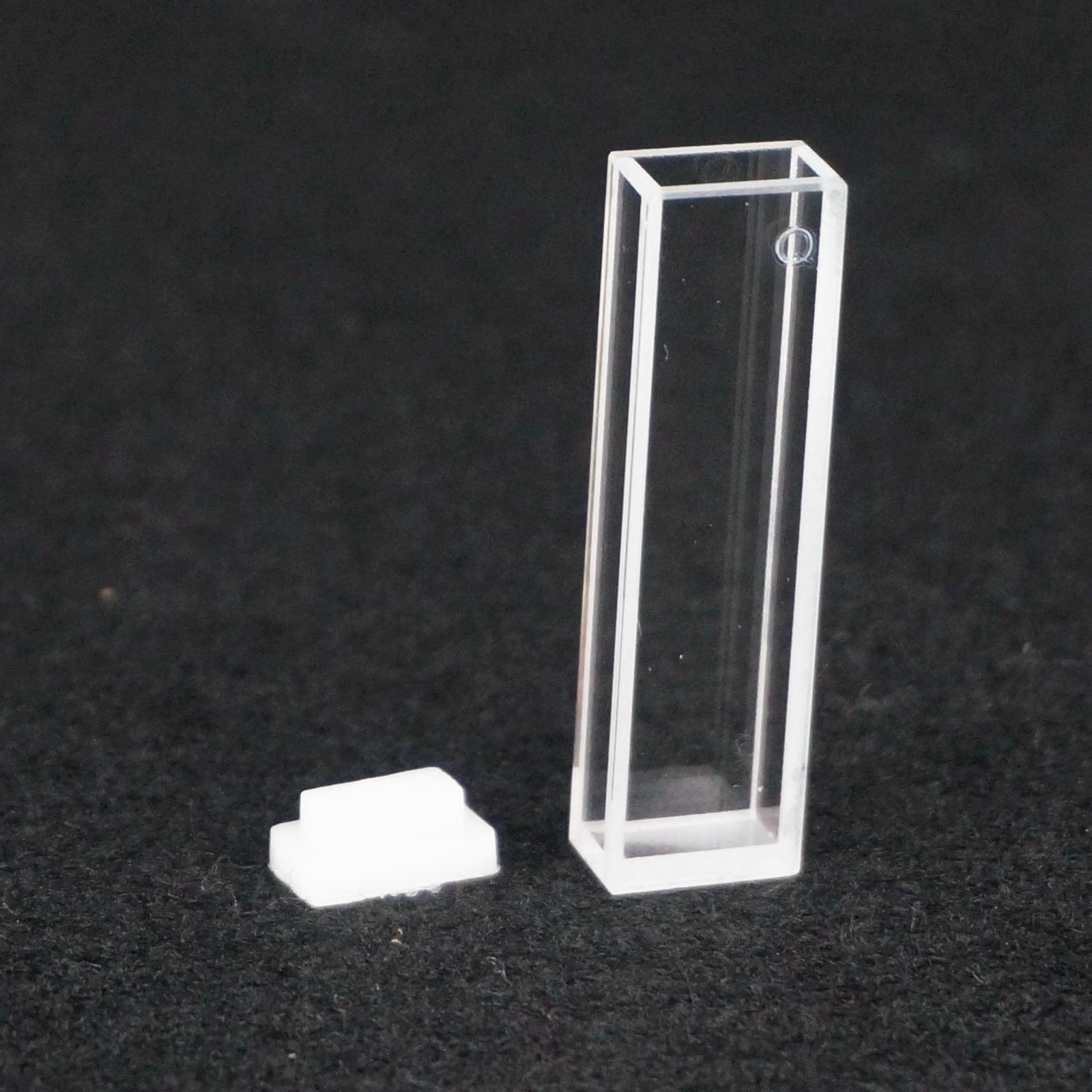 5mm x10mm Path Length JGS1 Quartz Cuvette Cell With Telfon Lid For Fluorescence Spectrometer