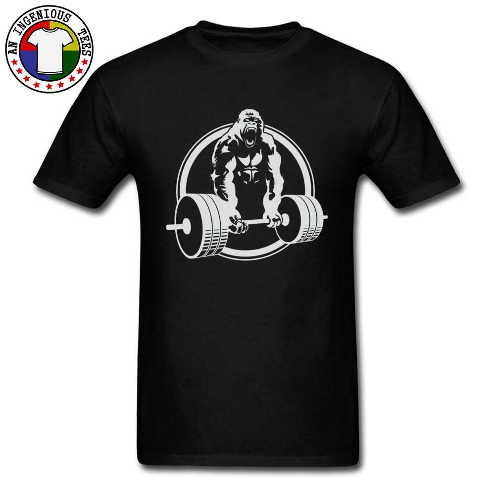 ゴリラボディービル重量ユーモア Tシャツ Star Wars チューバッカフィットネス新しい Tシャツ 3D プリントおかしいスターウォーズオランウータン男性 Tシャツ