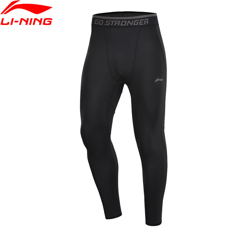 Li-Ning Men Training Series Base Layer Tight Fit Pants AT DRY 88% Polyester 12% Spandex LiNing Sports Pants AULP009 MKY466