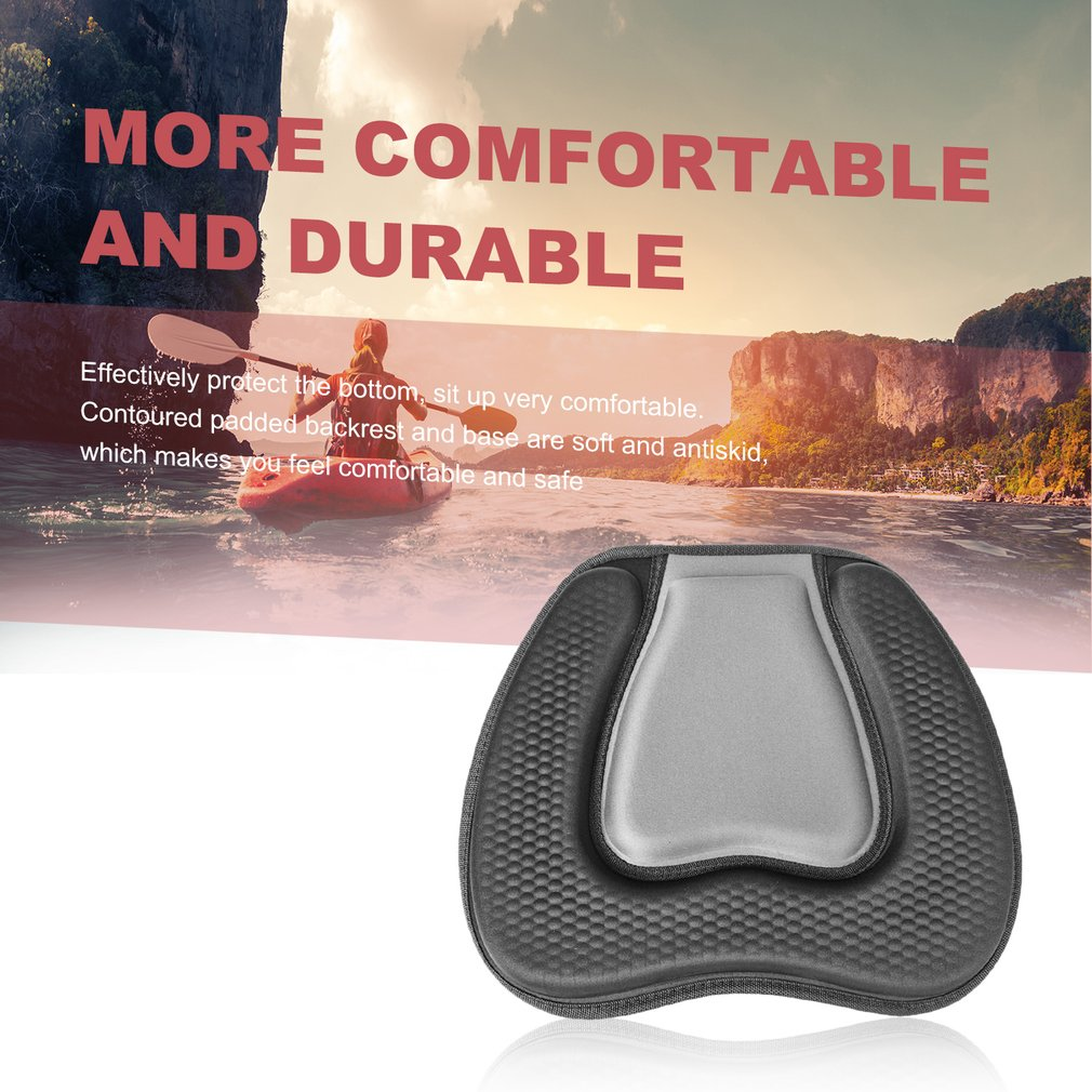 Soft Comfortable EVA Padded Seat Cushion On Top Backrest Seat for Outdoor Kayak Canoe Dinghy Boat Accessories