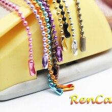 100 шт разноцветных 24 дюймовых шариковых бусин ожерелье с соединителем для женщин и мужчин DIY браслет ожерелье Изготовление ювелирных изделий