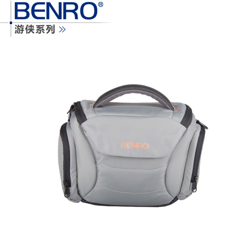 Benro Ranger S40 one shoulder professional camera bag slr camera bag rain cover bagsmart dslr slr camera shoulder bag water repellent polyester with rain cover green grey black