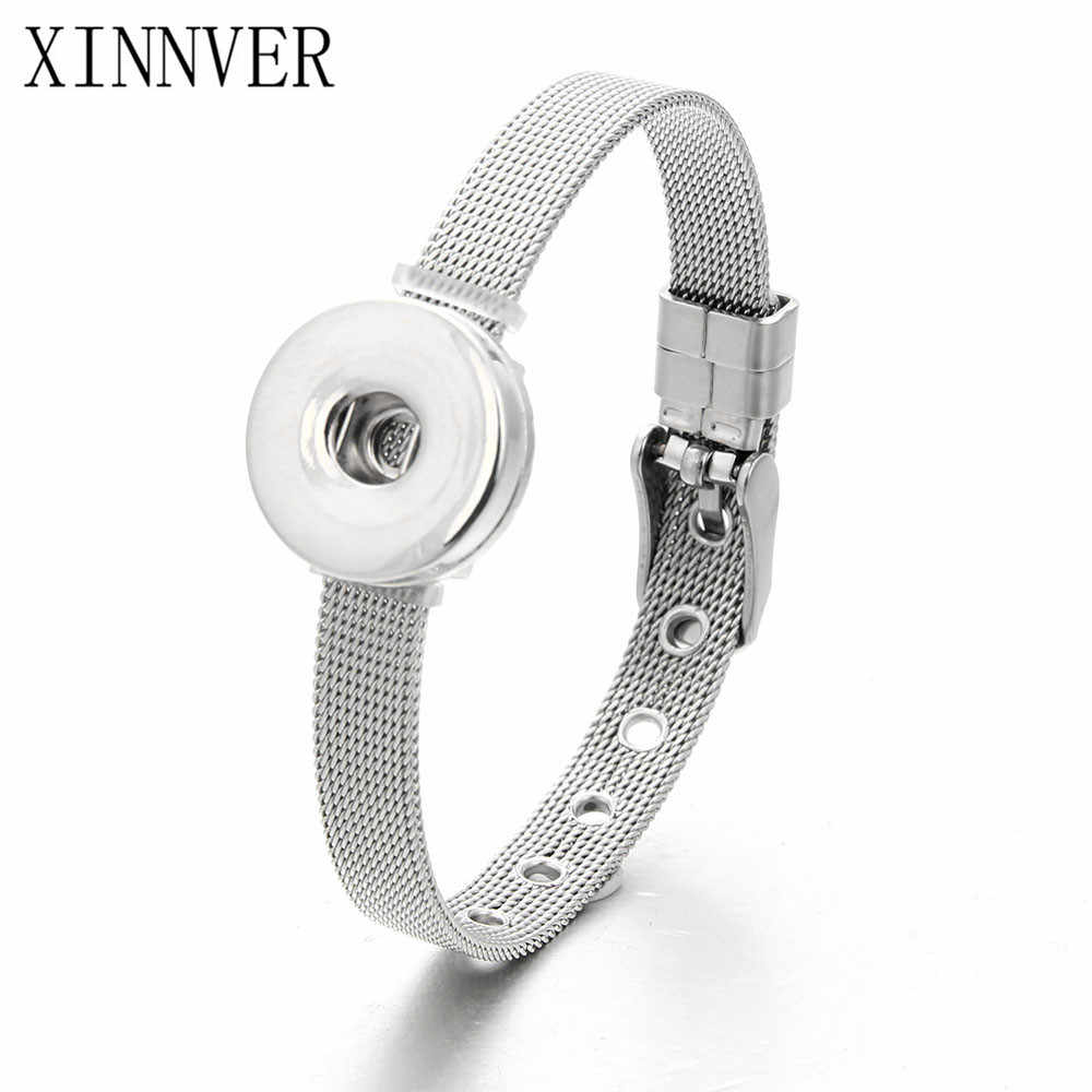 Hot Snap Bracelet&Bangles Newest Design Vintage Stainless Steel Bracelet FIt 18mm Snaps Button Jewelry ZE240