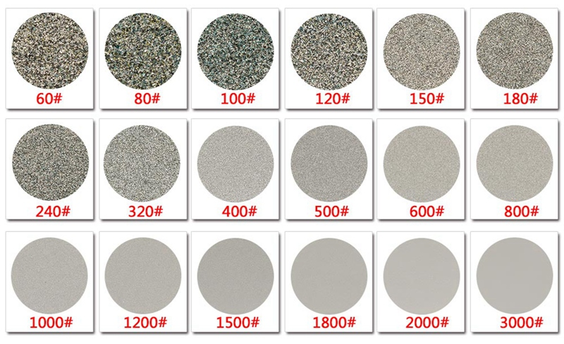 8 polegadas grit 6024060012003000 diamante disco de