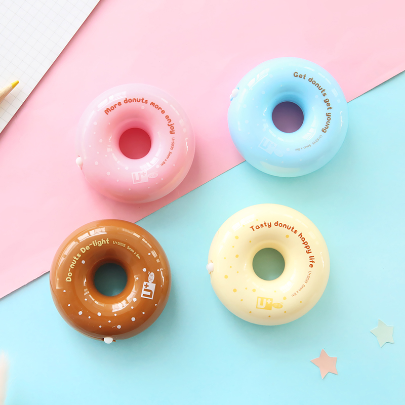 12 Pcs/Lot Candy Donut White Correction Tape 5mm*8m Correcting Stationery Office Accessories School Supplies Corretivo A6494