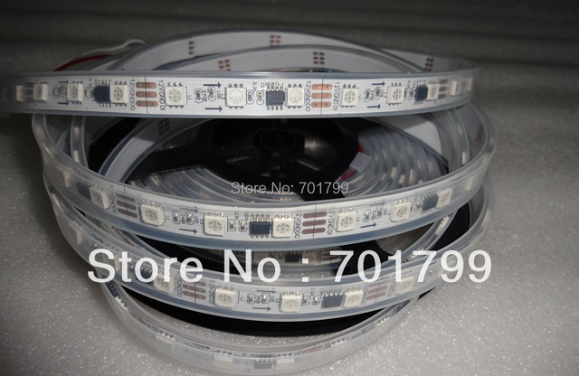 5m DC12V 60leds/m 20pcs ws2811 ic/meter(20pixels) led digital strip;IP68;waterproof in silicon tube
