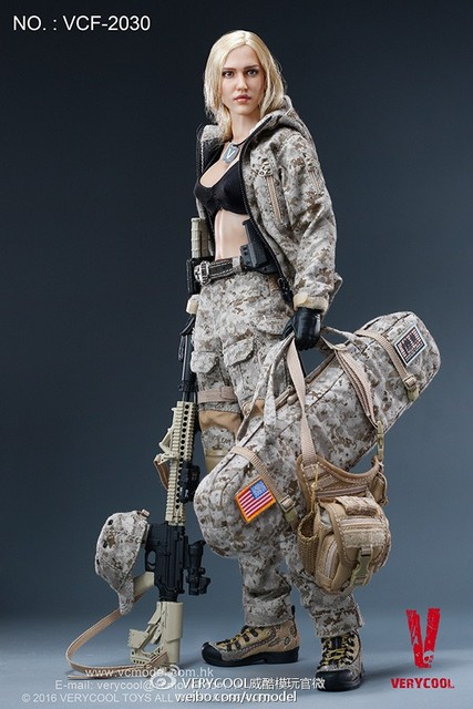 verycool vcf 2030 1 6 digital camouflage female soldier max action