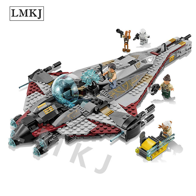 New Diy Star Genuine Series The Arrowhead Set Children Educational Building Blocks Bricks Toys Compatible with Legoingly 75186 [jkela]499pcs new star wars at dp building blocks toys gift rebels animated tv series compatible with legoingly starwars