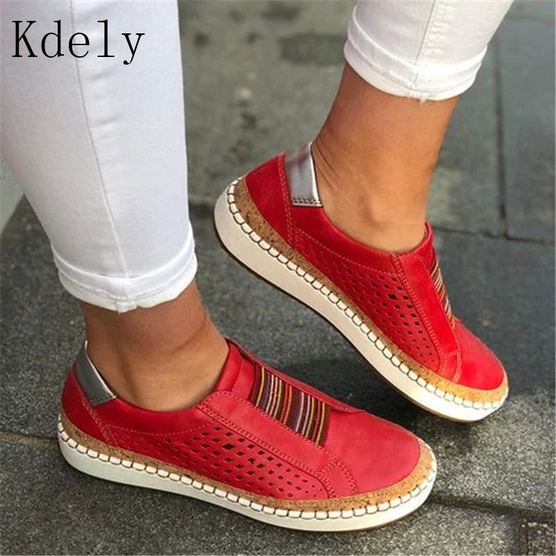 2019 Women Casual Shoes Fashion Mesh Women Sneakers Flats Torridity -up Breathable White Women Shoes Plus Size 35-43