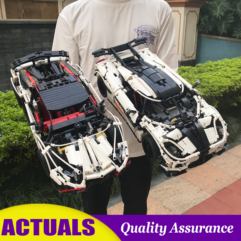 White Classic Supercar 23006 20052 Technic Vehicle Building Blocks DIY Model Assembly Toy Bricks