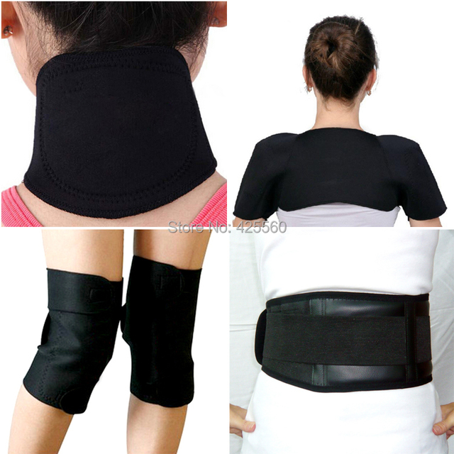 Turmalina Auto Aquecimento Terapia Magnética Cintura Apoio Joelheira Turmalina Magnética Do Ombro Pescoço Almofada de Massagem Cinto