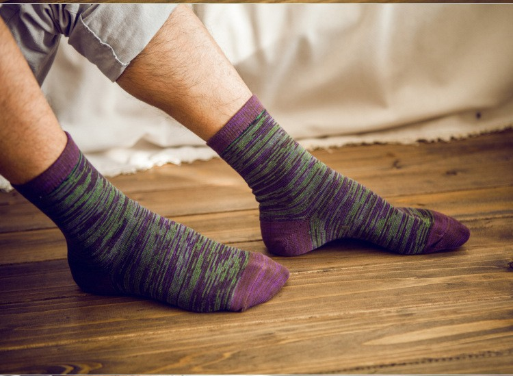 2016 Fashion Business Casual Brand mens sock High quality Cotton Colorful man socks mix 5 color 10pcs=5pairs/lot 6104