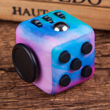 Colorful Fidget Cube Special Camouflage Starry Sky Color Spinner Hand Clickable Ball Puzzles Magic font b