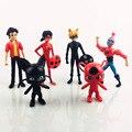 6 unids/set milagrosa mariquita adrien noir agreste, cat figura bloques figura 2016 muchacha mágica figura de acción del anime juguetes