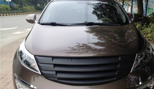 matte black Front Grille Around Trim Racing Grills Trim For kia Sportage R 2011-2015 1PC for chevy epica 2007 2012 front grille around trim front grills around trim racing grills trim abs 1pc