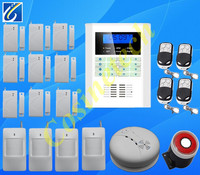 Ventas calientes red dual GSM + PSTN sistema de alarma gsm seguridad Para El Hogar en Inglés, Francés, Ruso, Italiano, chino para la selección, la alarma de SMS