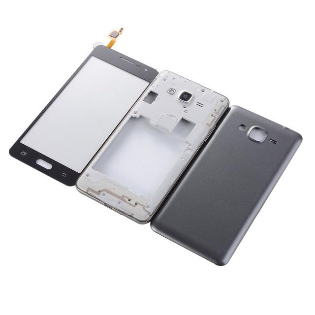 Couvercle arrière de la batterie + écran tactile + cadre central du boîtier pour Samsung SM-G531 G531f G531h