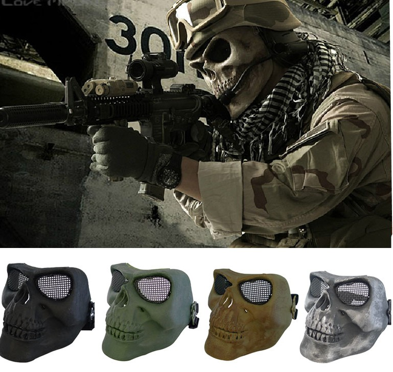 Special Forces CS Cosplay Mask Usa Skull Mask Gunfire Protect Tpu Army Of Two Half