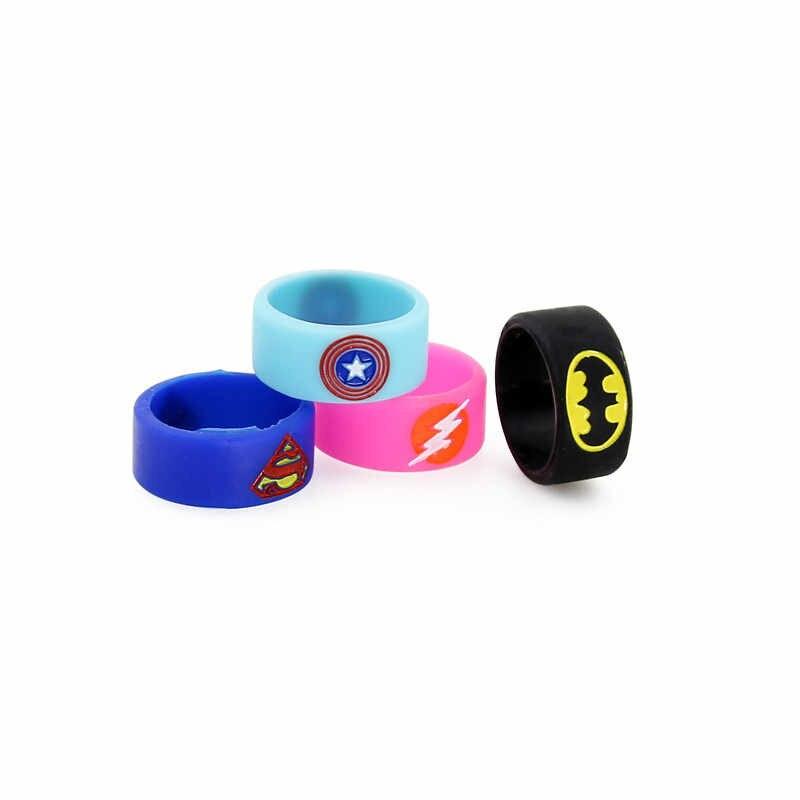 100 adet VB silikon yüzükler Bantları Vape Band Yüzük Batman Superman Tasarım Tankı Mods e-sigara Atomlaştırıcılar Başlangıç kiti